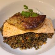Lentil,-Poached-Salmon-and-Foie-Gras